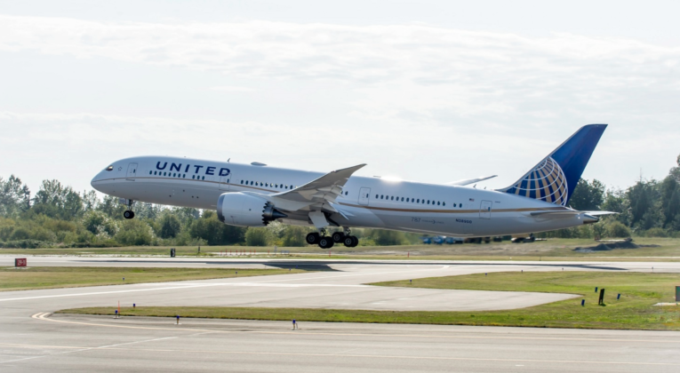 Boeing 787-9 Dreamliner in United Airlines livery (Source: United Airlines)