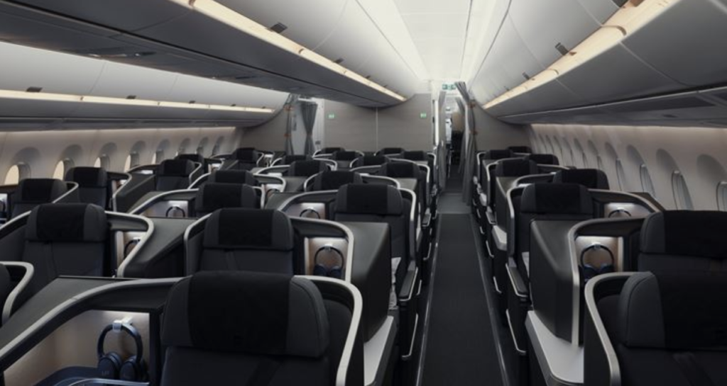 SAS Business Class on the new Airbus A350-900.