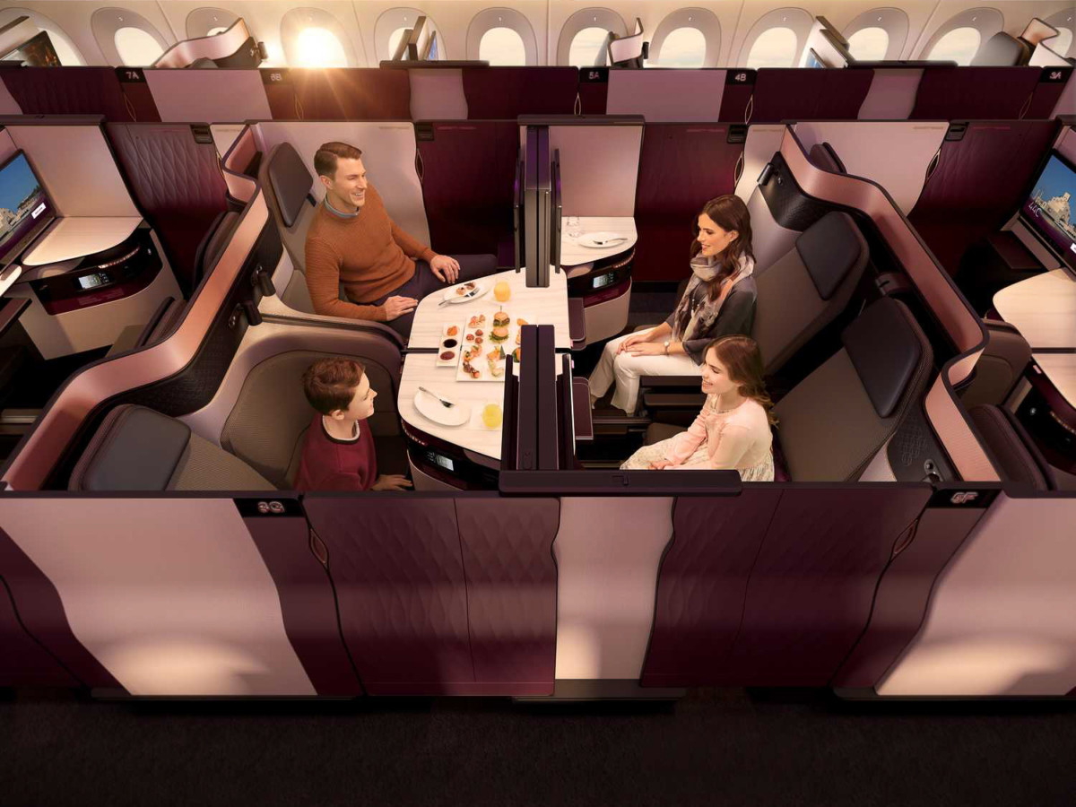 De Qsuite, het business class product van Qatar Airways (Bron: Qatar Airways)