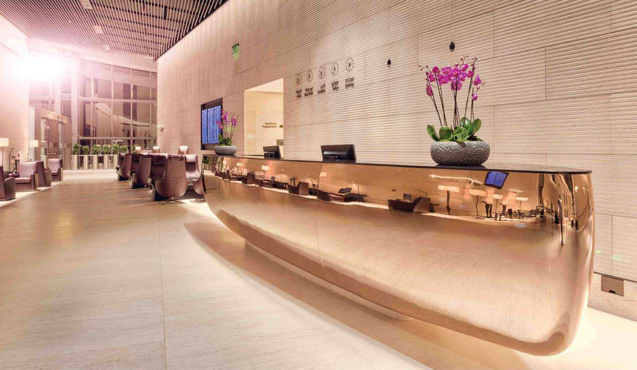 Als Platinum lid krijg je toegang tot de prestigieuze Al Safwa Lounge (Bron: Qatar Airways)