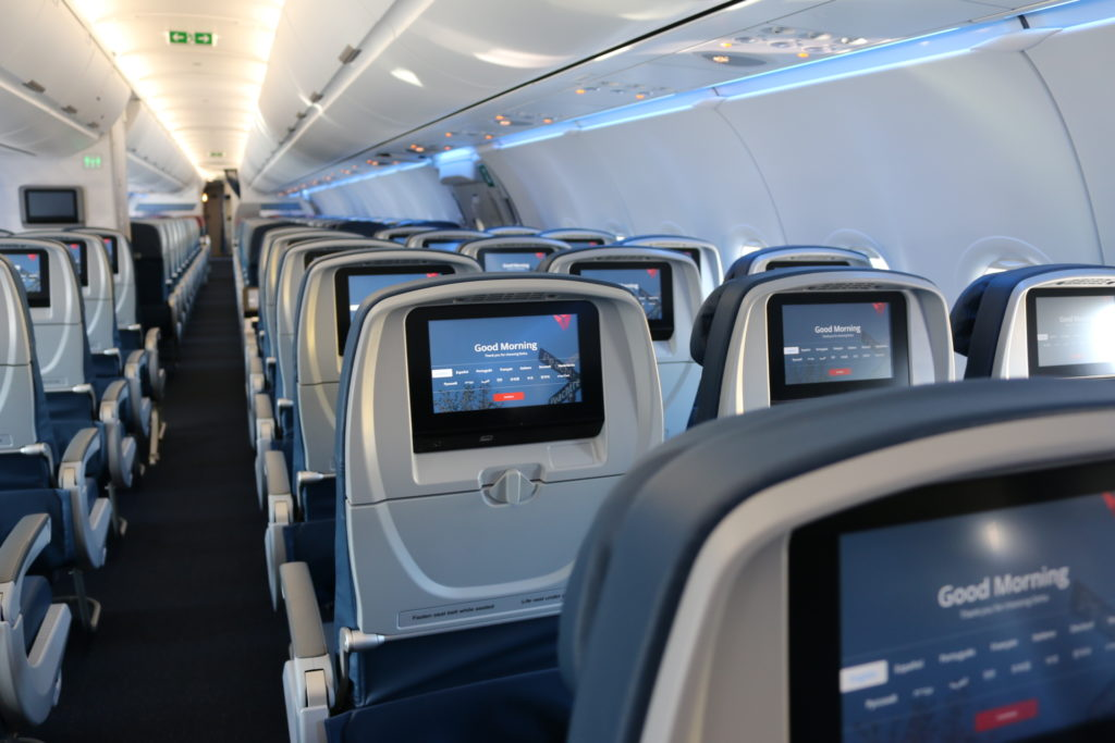 Delta Airbus A321 interior (Source: Delta)