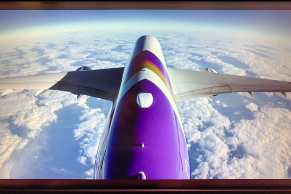 Thai Airways Airbus A350 rear camera view
