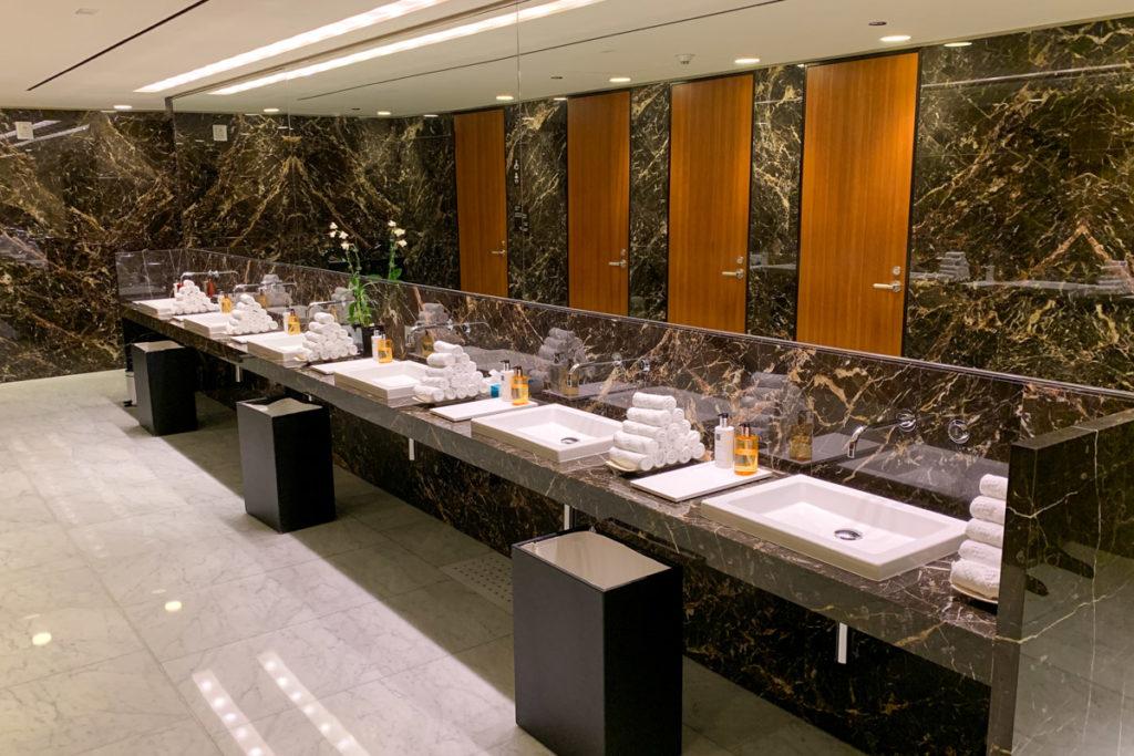 First-class restrooms