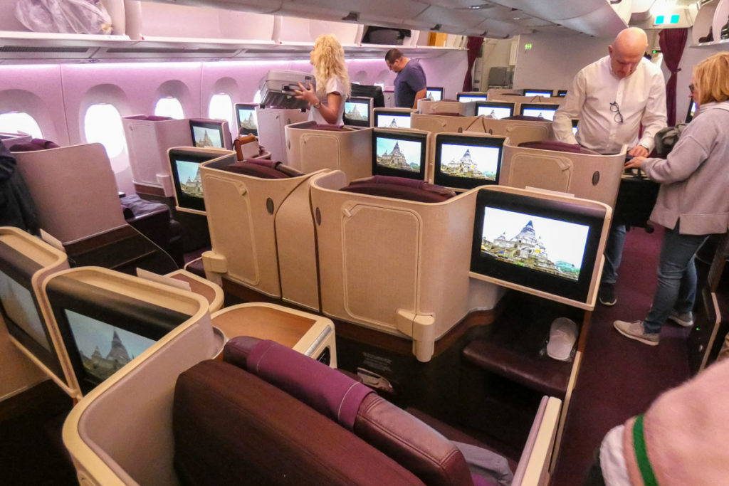 Thai Airways Airbus A350 business class cabin