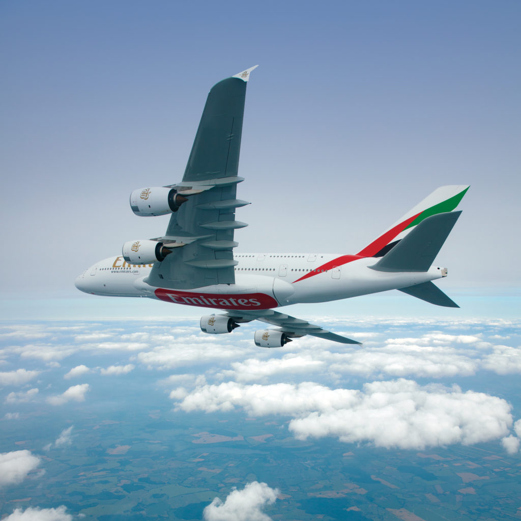 Airbus A380 in Emirates livery (Source: Emirates)