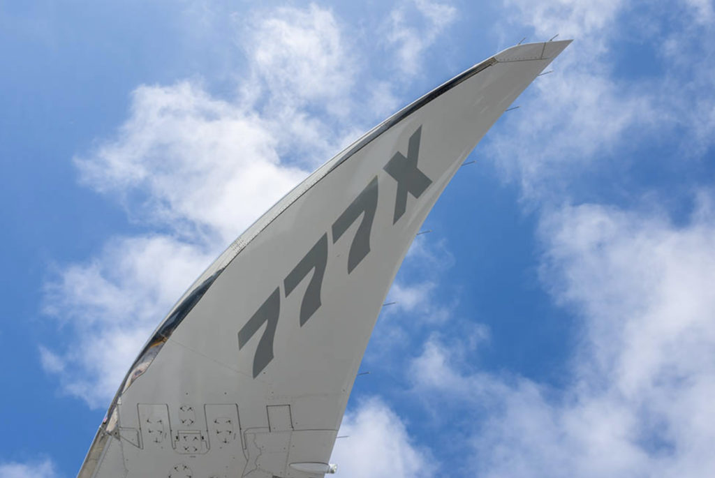 What makes the B777X so special? It's folding wings! (Source: Boeing)