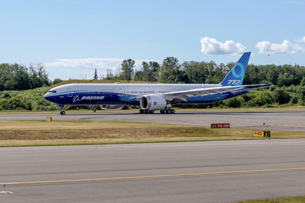 Boeing's newest aircraft type, the B777-9 (Source: Boeing)