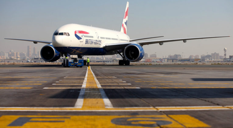 Boeing 777-200 push back in Dubai (Source: British Airways)